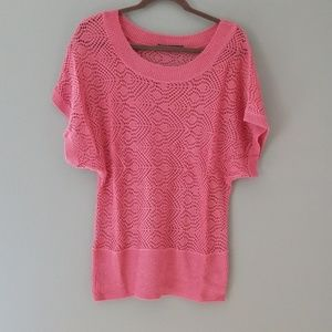 MAURICES Pink Knit Shell